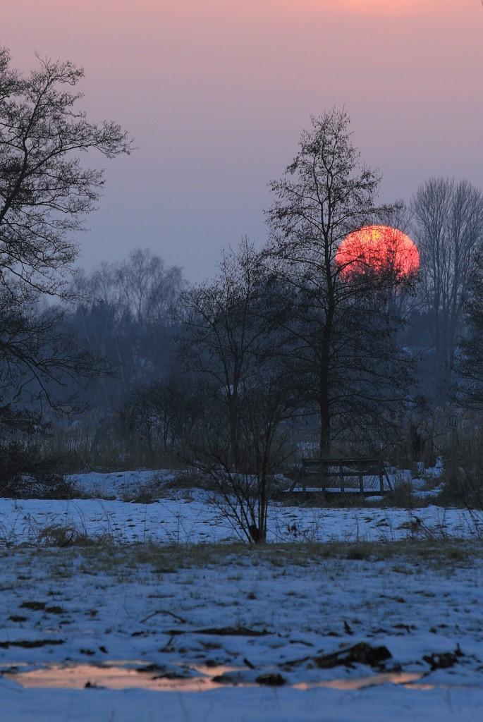 Sonnenuntergang im Glonntal